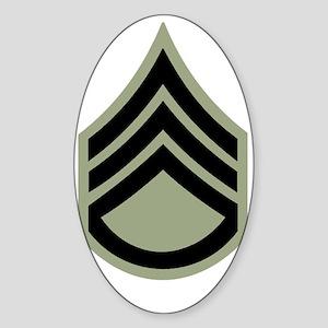 Army-SSG-Vietnam-Dark-Shirt Sticker (Oval)
