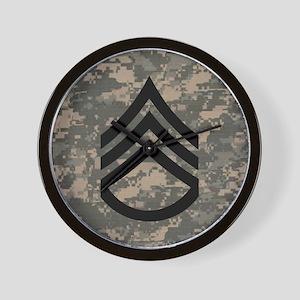 Army-SSG-Subdued-Tile-ACU Wall Clock