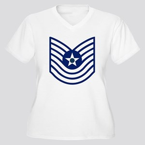 3-USAF-MSGT-Old-B Women's Plus Size V-Neck T-Shirt