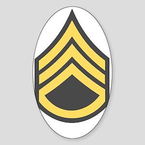 Army-SSG-Green-Bonnie Sticker (Oval)