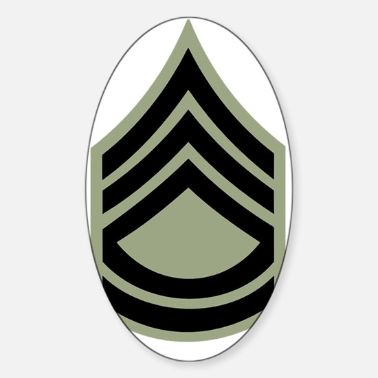 Army-SFC-Vietnam-Dark-Shirt Sticker (Oval)