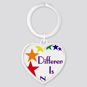 Different-Is-Normal-Stars-4 Heart Keychain