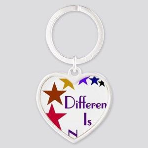 2-Different-Is-Normal-Stars-4-For-P Heart Keychain