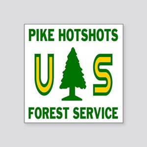 "Pike-Hotshots-Shirtback Square Sticker 3"" x 3"""