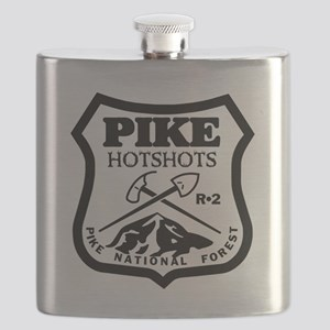 Pike-Hotshots-Black-White Flask
