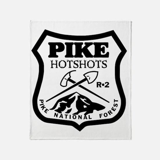 Pike-Hotshots-Black-White Throw Blanket