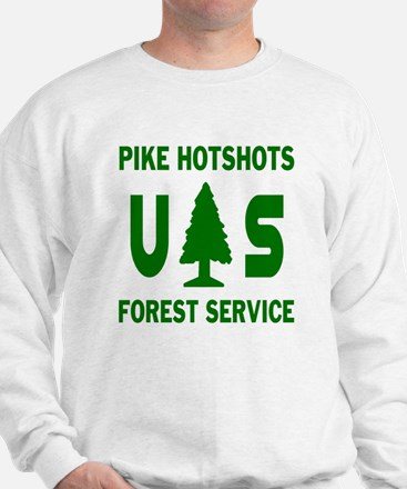 Pike-Hotshots-Shirtback-Green Sweatshirt