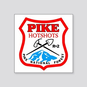 "Pike-Hotshots-Bonnie Square Sticker 3"" x 3"""