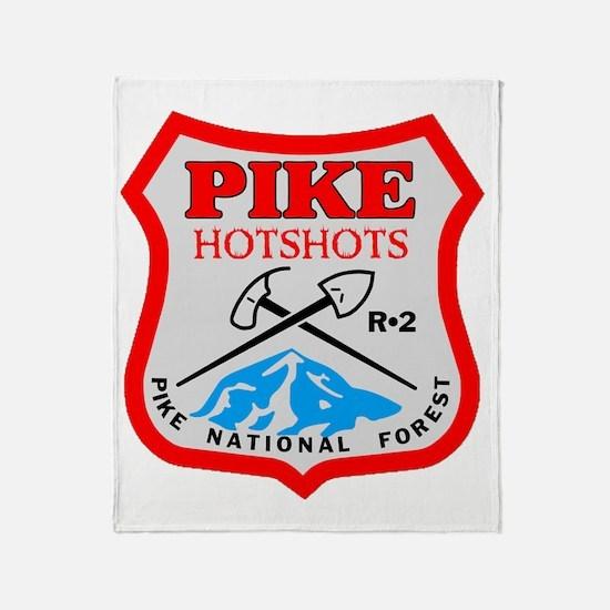 Pike-Hotshots-Dark-Shirt-PNG Throw Blanket