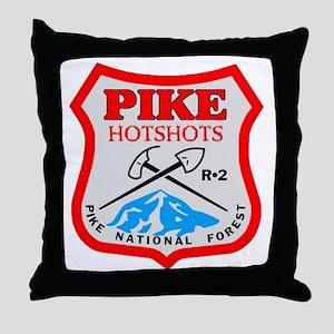 Pike-Hotshots-Dark-Shirt- Throw Pillow