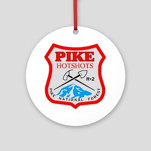 Pike-Hotshots-Dark-Shirt- Round Ornament
