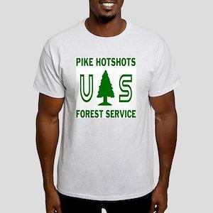 Pike-Hotshots-Shirtback-Green-White Light T-Shirt
