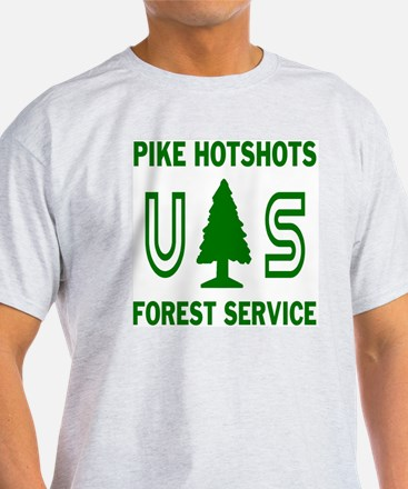 Pike-Hotshots-Shirtback-Green-White T-Shirt