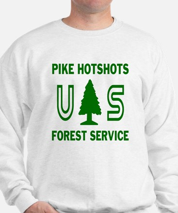Pike-Hotshots-Shirtback-Green-White Sweatshirt