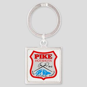Pike-Hotshots-Dark-Shirt- Square Keychain