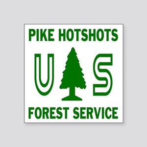 "Pike-Hotshots-Shirtback-Gre Square Sticker 3"" x 3"""