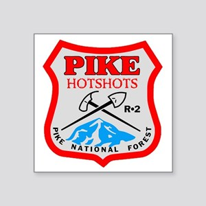 "Pike-Hotshots-Dark-Shirt-PN Square Sticker 3"" x 3"""