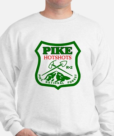 Pike-Hotshots-Green-Red Sweatshirt