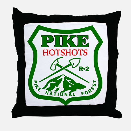 Pike-Hotshots-Green-Red Throw Pillow