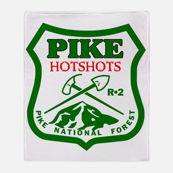 Pike-Hotshots-Green-Red Throw Blanket