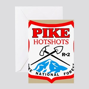 Pike-Hotshots-Button-4 Greeting Card