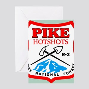 Pike-Hotshots-Button-2 Greeting Card