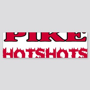 Pike-Hotshots-Shirtback-Red Sticker (Bumper)