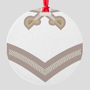 British-Army-PTI-LCpl-Stone Round Ornament