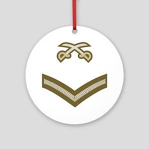 British-Army-PTI-LCpl-Bear Round Ornament