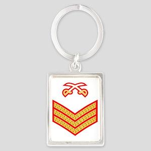 British-Army-PTI-Sergeant-Red-Dr Portrait Keychain