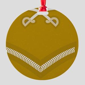 British-Army-PTI-LCpl-Magnet Round Ornament