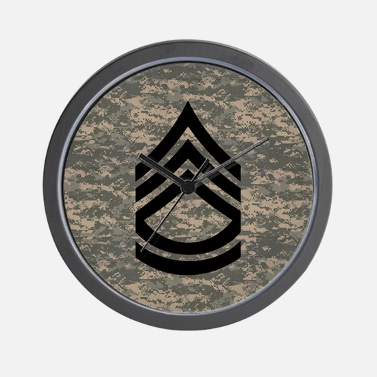 Army-SFC-ACU-Tile-PNG Wall Clock