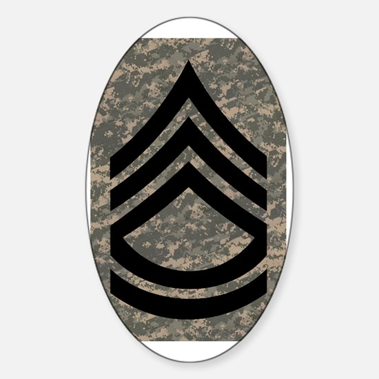 Army-SFC-ACU-Journal-PNG Sticker (Oval)