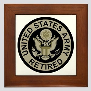 Army-Retired-Subdued Framed Tile