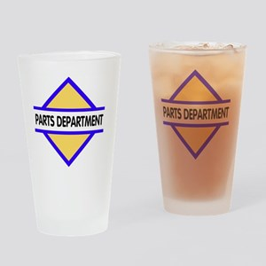 Sign-Parts-Department Drinking Glass