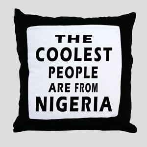 The Coolest Nigeria Designs Throw Pillow
