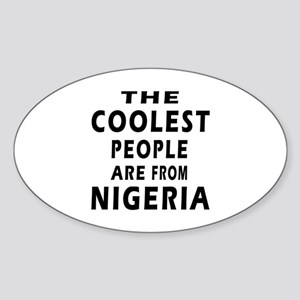 The Coolest Nigeria Designs Sticker (Oval)