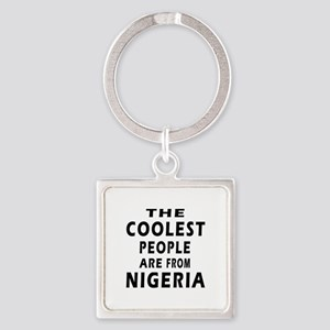 The Coolest Nigeria Designs Square Keychain
