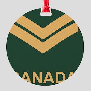 Canada-Army-Corporal-Slide Round Ornament