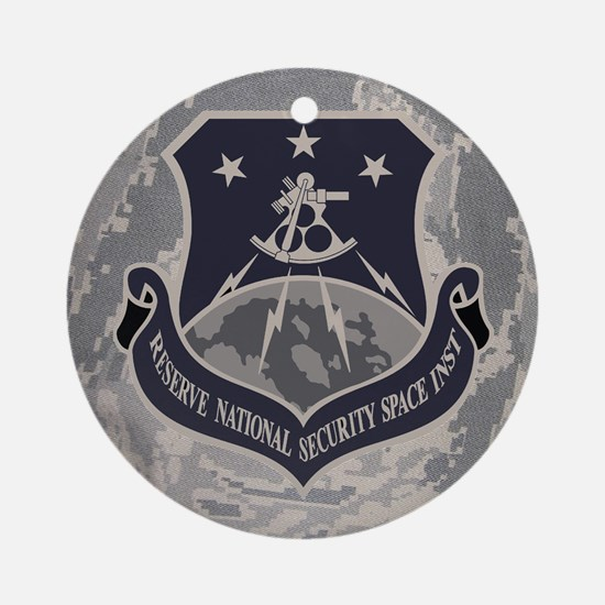 USAFR-RNSSI-Mousepad-PNG Round Ornament