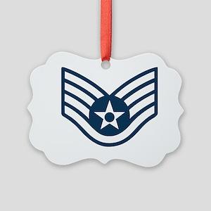 USAF-SSgt-X Picture Ornament