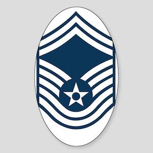 USAF-SMSgt-X Sticker (Oval)