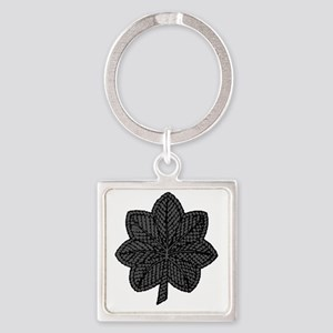 LtCol-Black Square Keychain