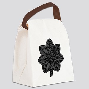 LtCol-Black Canvas Lunch Bag