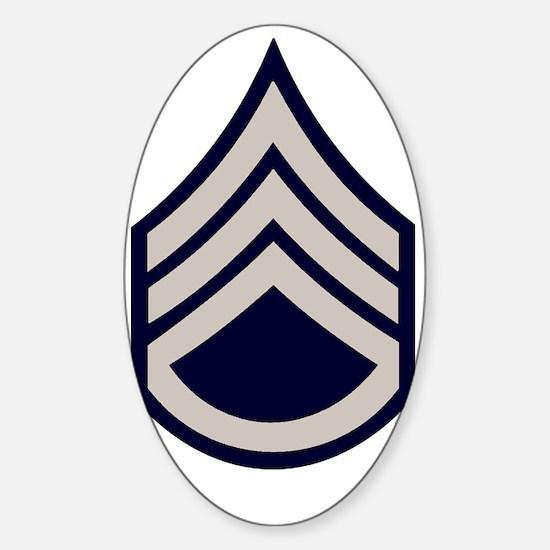 Army-SSgt-WWII-Khaki Sticker (Oval)