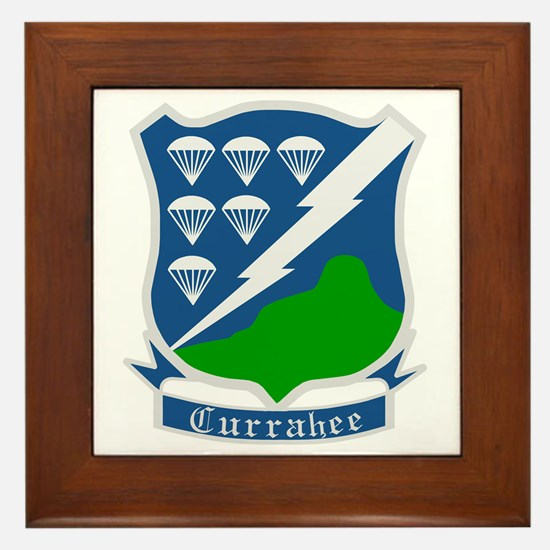 Army-506th-Infantry-WWII-Currahee-Patc Framed Tile