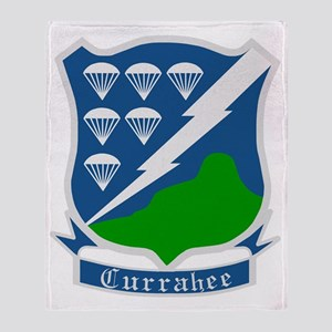 Army-506th-Infantry-WWII-Currahee-Pa Throw Blanket