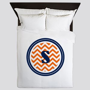 Orange & Navy Queen Duvet