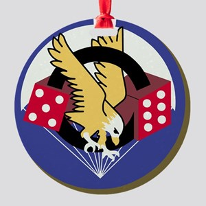 Army-506th-Infantry-Paradice-Tile Round Ornament
