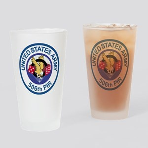 Army-506th-Infantry-Para-Dice-Round Drinking Glass